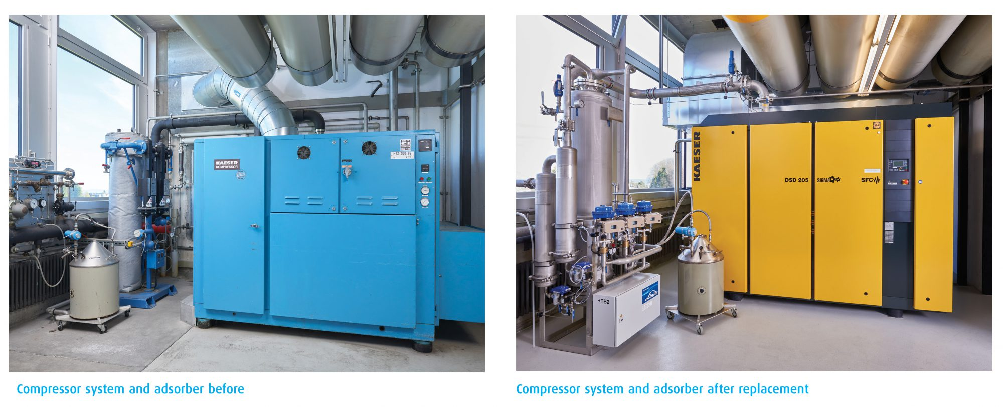 Compressor and adsorber
